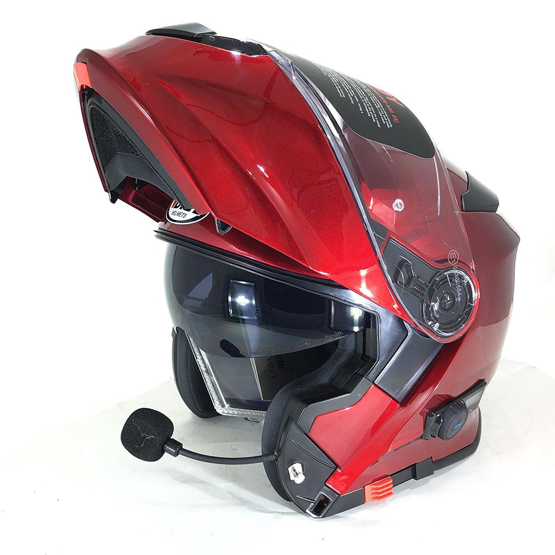 205c1e1f1b8 Vcan V271 BLINC Bluetooth con tapa frontal casco nuevo moto MP3 GPS FM de  comunicació n ...