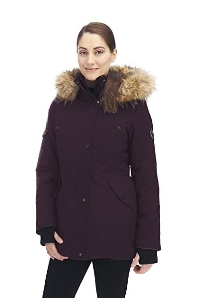 Amazon.com: Parka Alpine North de plumas, para mujer : Clothing