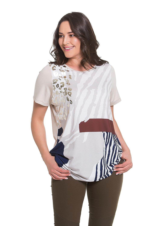 3d947dae5b Tops   Plus Women s Plus Size Safari Shimmer Tunic - SAND at Amazon Women s  Clothing store