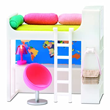 Lundby 1:18 Scale Dolls House Smaland Teenage Loft Bed Set