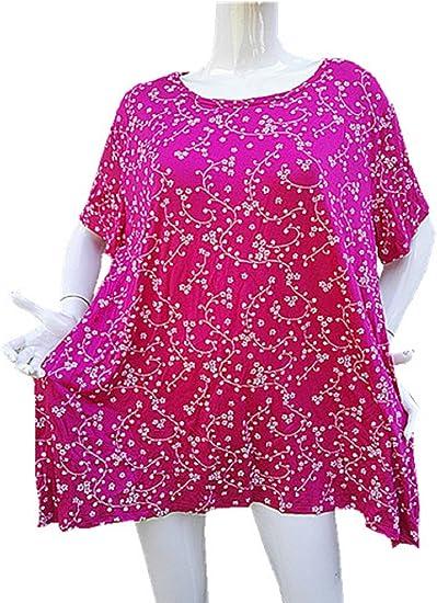 fashionfolie Femme Tshirt Haut Top Taille