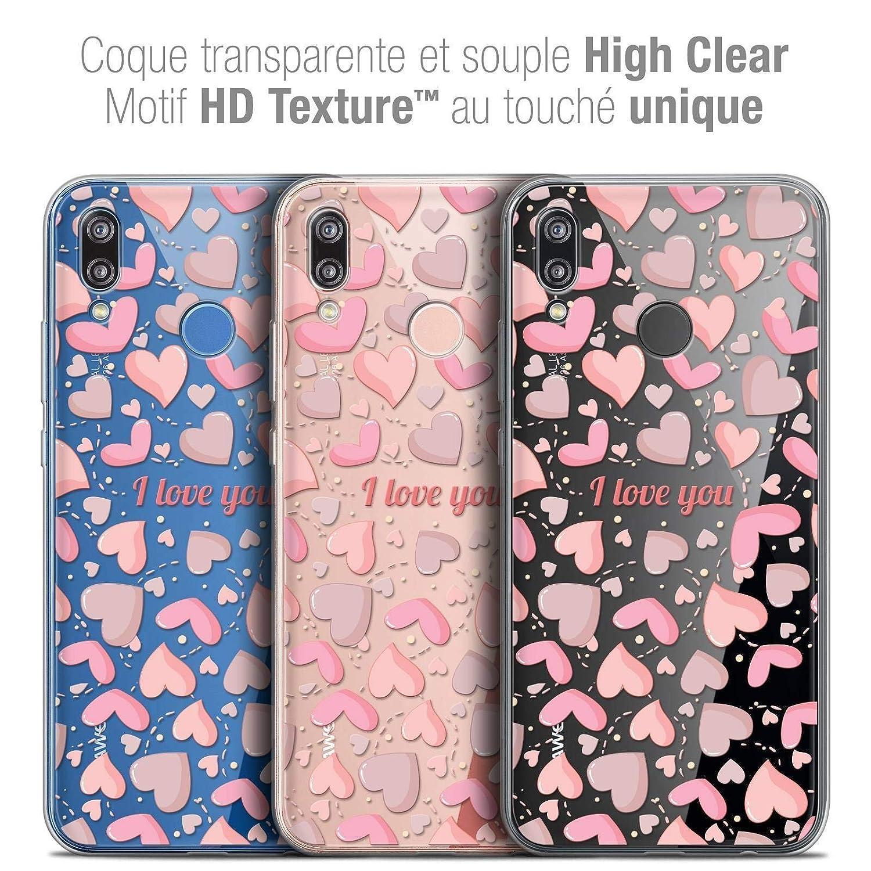Crystal Gel Motif HD Collection Love Saint Valentin Design sous larbre - Souple - Ultra Fin - Imprim/é en France Caseink Coque pour Huawei P20 Lite 5.84 Housse Etui