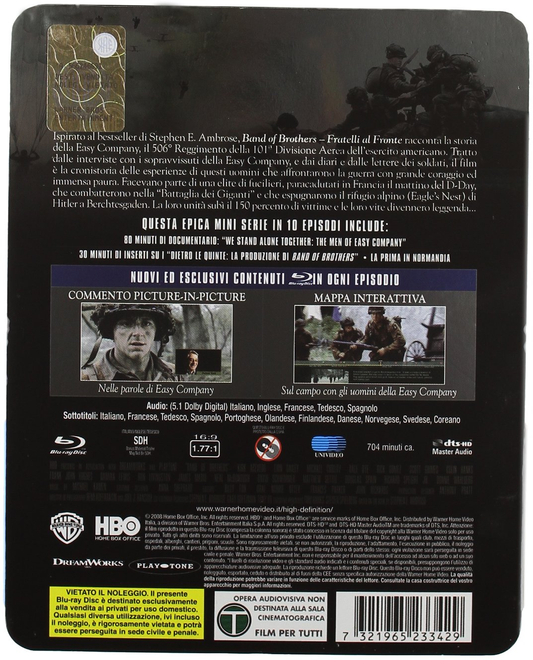 Band of brothers - Fratelli al fronte box Italia Blu-ray ...