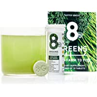 8Greens Effervescent Super Greens Dietary Supplement - 8 Essential Healthy Real Greens in 1 - 60 Tablets (6 Tubes)