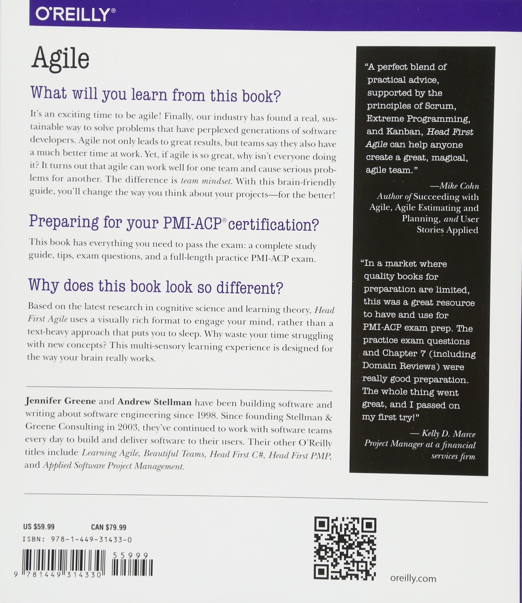 Head First Agile A Brain Friendly Guide To Agile And The Pmi Acp