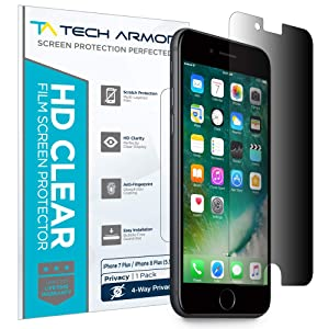 Tech Armor 4Way 360 Degree Privacy Film Screen Protector for Apple iPhone 7 Plus/iPhone 8 Plus (5.5-inch) [1-Pack]