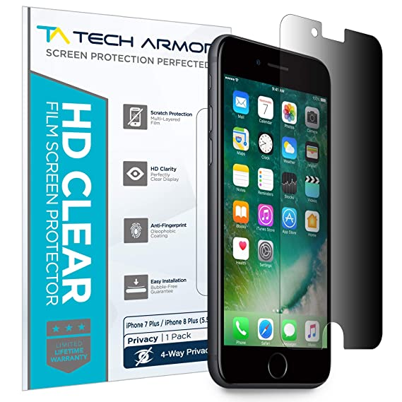 3435488f828 Amazon.com: Tech Armor 4Way 360 Degree Privacy Film Screen Protector ...