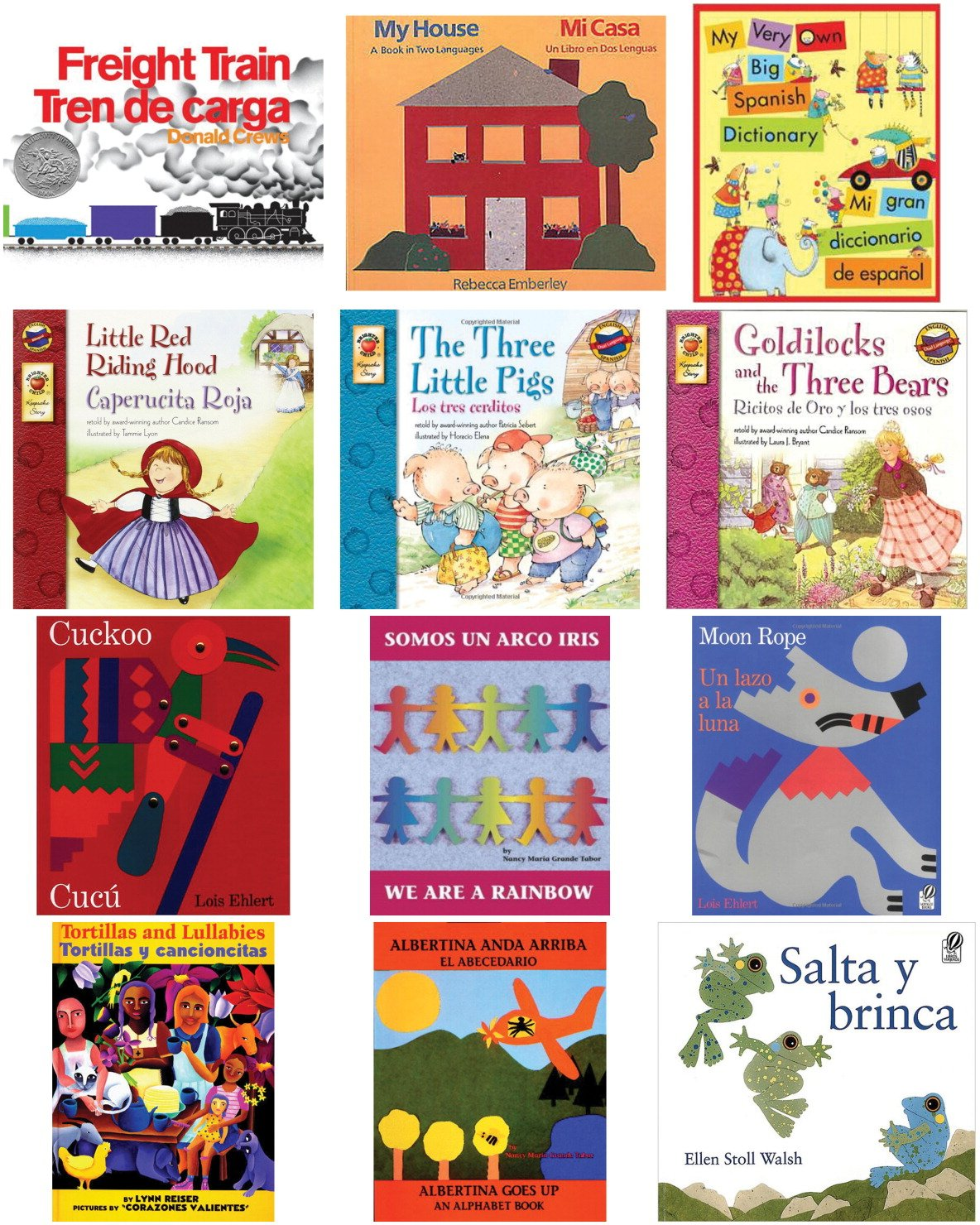 Childcraft Bilingual Books, Grades PreK to K, Set of 12 Classroom Library Co