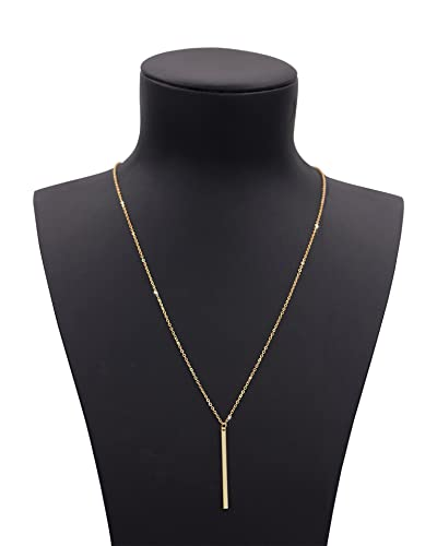 Amazon geerier gold chain y type simple bar necklace pendant geerier gold chain y type simple bar necklace pendant long lariat necklace aloadofball Image collections