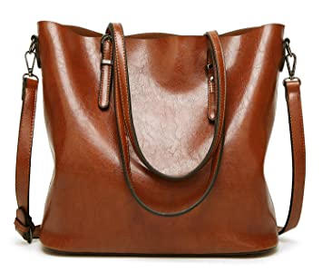 Image Unavailable. Image not available for. Colour  DCCN Women s Tote Soft  PU Leather Shoulder Bag (Brown) 535500b934