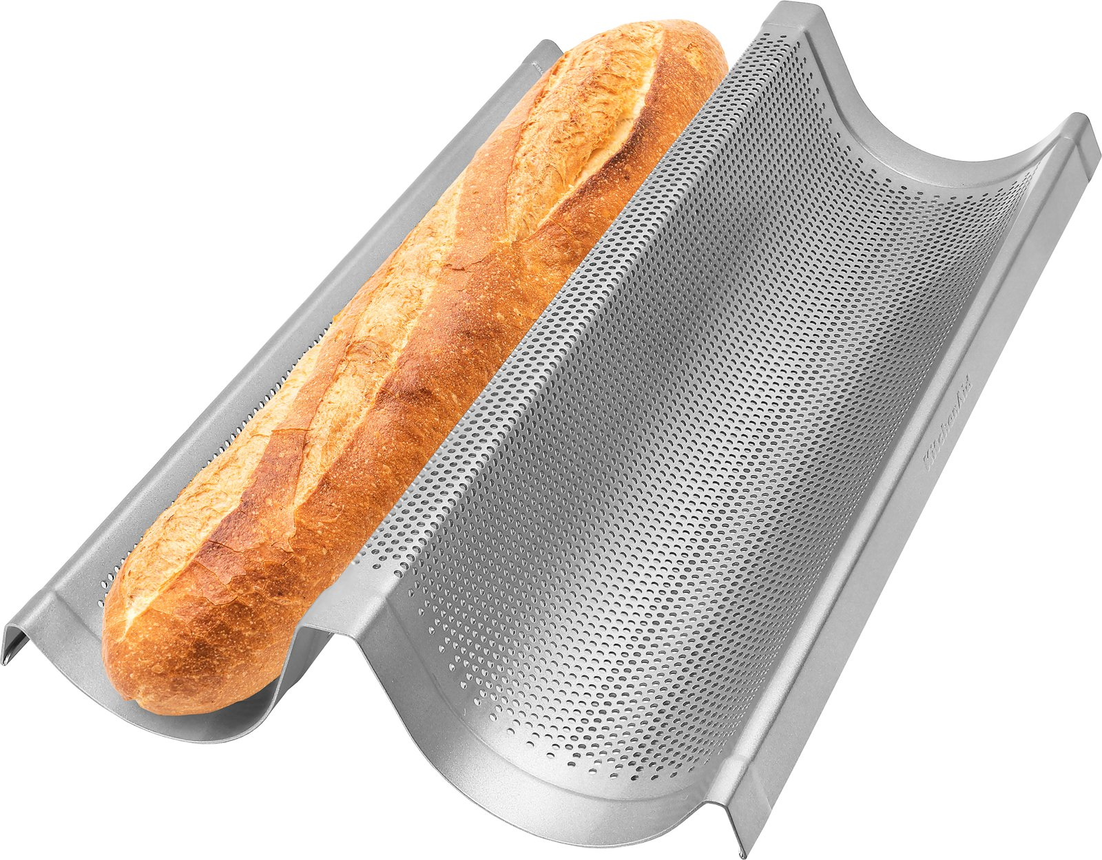 "Commercial Grade non Stick Perforated Double Baguette Loaf baking pan - 16"" inch"