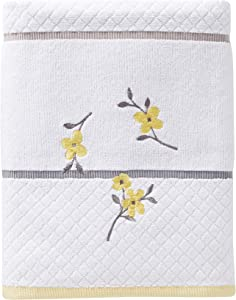SKL HOME by Saturday Knight Ltd. - P0758000805103 Spring Garden Bath Towel, White, Bath Towel - Embroidered