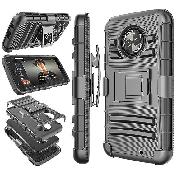 online retailer 950cc d4462 Moto X4 Case, 2017 Motorola Moto X 4th Generation Holster Clip, Tekcoo  [Hoplite] Shock Absorbing [Black] Swivel Locking Belt Defender Heavy Full  Body ...