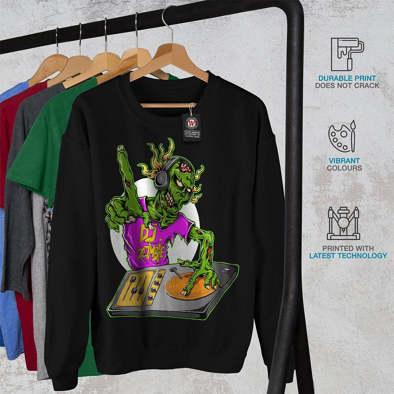 Casual Jumper wellcoda DJ Zombie Music Fashion Mens Sweatshirt