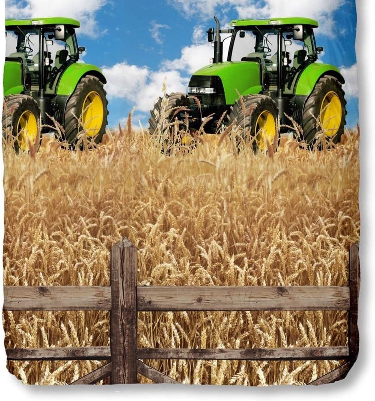 135 x 200 cm + 80 x 80 cm GOOD MORNING Juego De Funda N/órdica Farmer Azul//Beige Cama 80