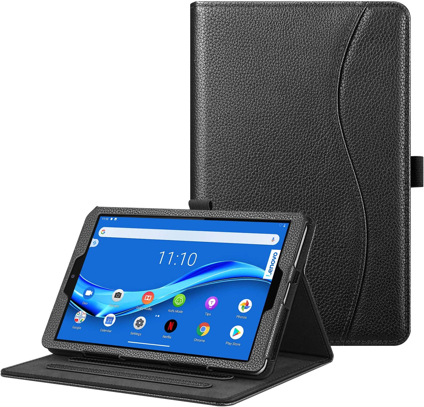 """Fintie Case for Lenovo Tab M8 / Smart Tab M8 / Tab M8 FHD - Multi-Angle Viewing Folio Cover w/Pocket, Auto Wake/Sleep for Lenovo Tab M8-HD TB-8505F/TB-8505X 2019 8.0"""" Tablet, Black"""