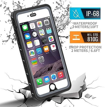 Amazon.com: Funda impermeable para iPhone 6/6S Plus., Negro ...