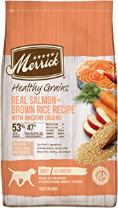Merrick Healthy Grains Dry Dog Food Real Salmon and Brown Rice Recipe with Ancient Grains - 12 lb. Bag