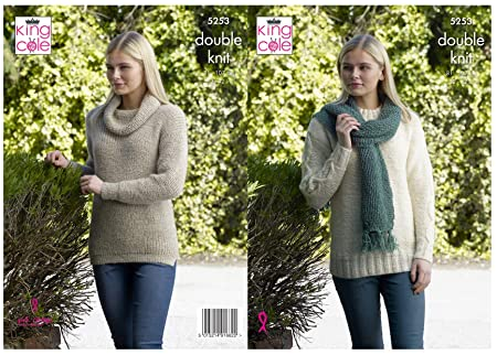 63baca799 Image Unavailable. Image not available for. Colour  King Cole 5253 Knitting  Pattern Womens Sweaters ...