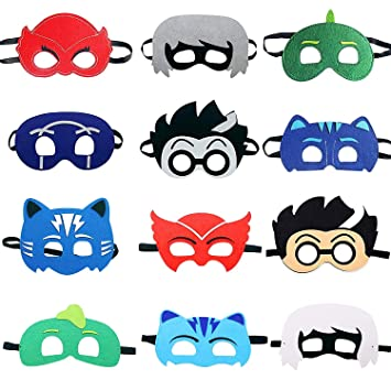 KRUCE 12 Packs Cartoon Hero PJ Masks Favores de Fiesta para ...