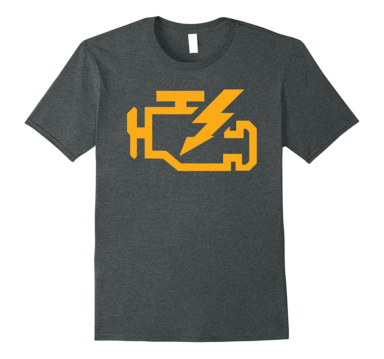 Check Engine Light Tshirt | Funny Car Mechanic Enthusiast T-BN