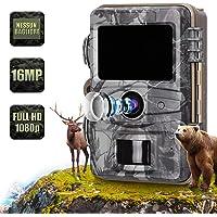 AGM Caméra de Chasse 16 MP 1080P Caméra photopiège à Infrarouge HD IR Vision Nocturne LCD Écran IP66
