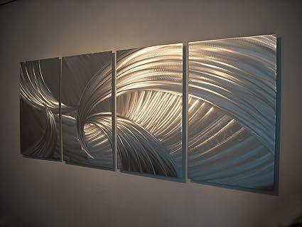 Amazon.com: Metal Wall Art, Modern Home Decor, Abstract Wall ...