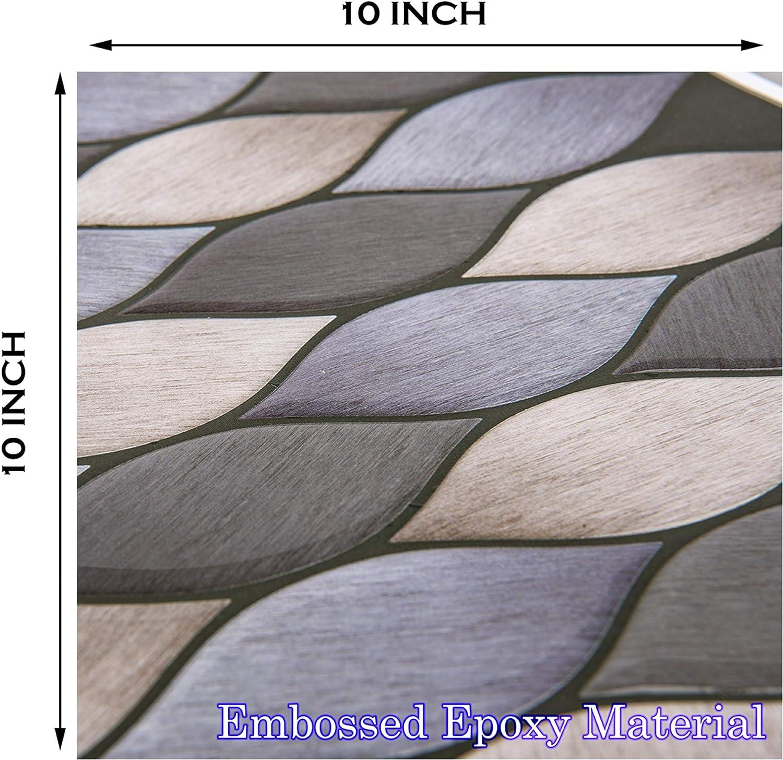 for Kitchen Decorative Tiles STIQUICK TILES Peel and Stick Backsplash 10 X 10 10 Sheets, Hariline Leaf Black 10 Sheets /¡/¦