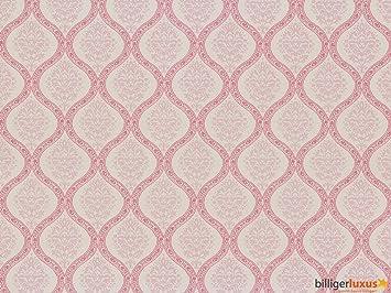 Vintage Diary Tapeten Landhaus Stil  Barock Rosa Pink