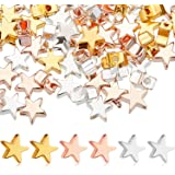 No.054 50pcs of Small Antique Silver Star Spacer Beads 5mm
