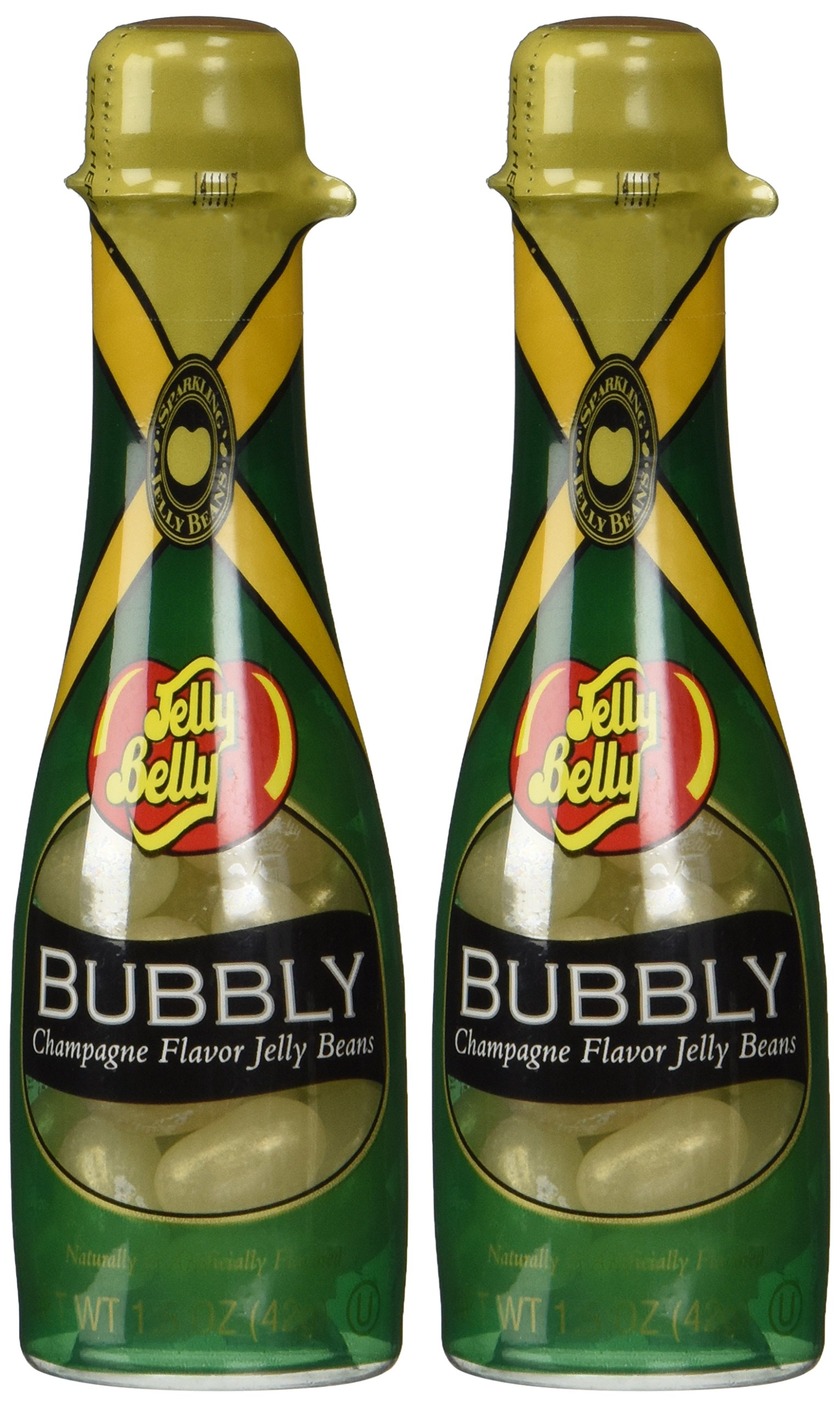 Jelly Belly Bubbly Champagne Flavored Jelly Beans Bottle (Pack of 2) by Jelly Belly