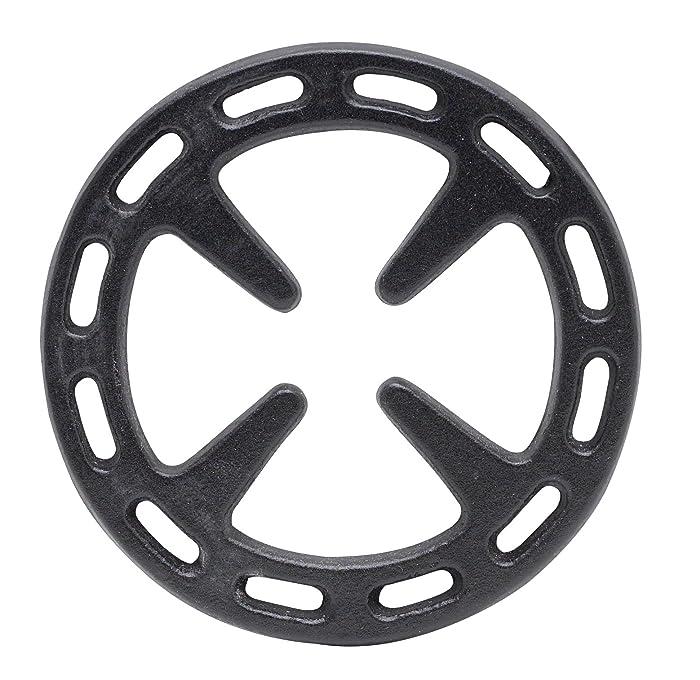 Ilsa 8880 Gas Ring Reducer, 5-Inch, Cast Iron, Black