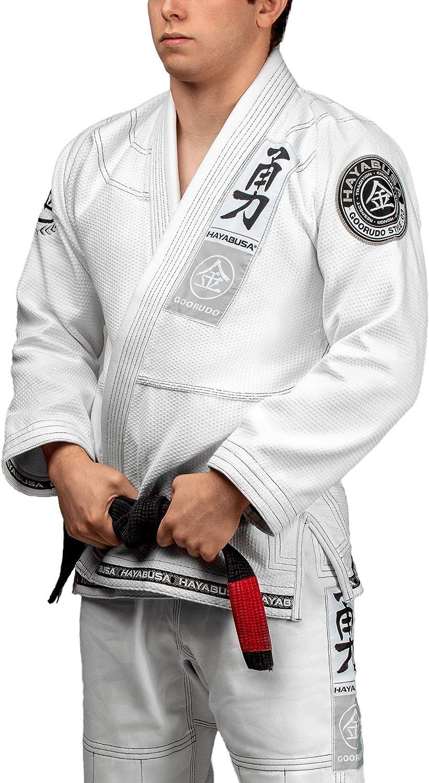 Hayabusa Goorudo 3.0ゴールド織りBrazilian Jiu Jitsu Gi ホワイト A3