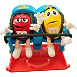 Roller Coaster Candy Dispenser by M&M Characters Red and Yellow dispense candy, gumballs, nuts, snacks and treats for childre
