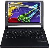 IVSO Lenovo YOGA Tab 3 10.1-Inch QWERTY Bluetooth Tastiera Portfolio - DETACHABLE Bluetooth copertura della tastiera per Lenovo YOGA Tab 3 10.1-Inch Tablet (Nero)