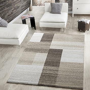 Tappeto moderno a pelo corto, per il soggiorno, motivo: squadrato ...