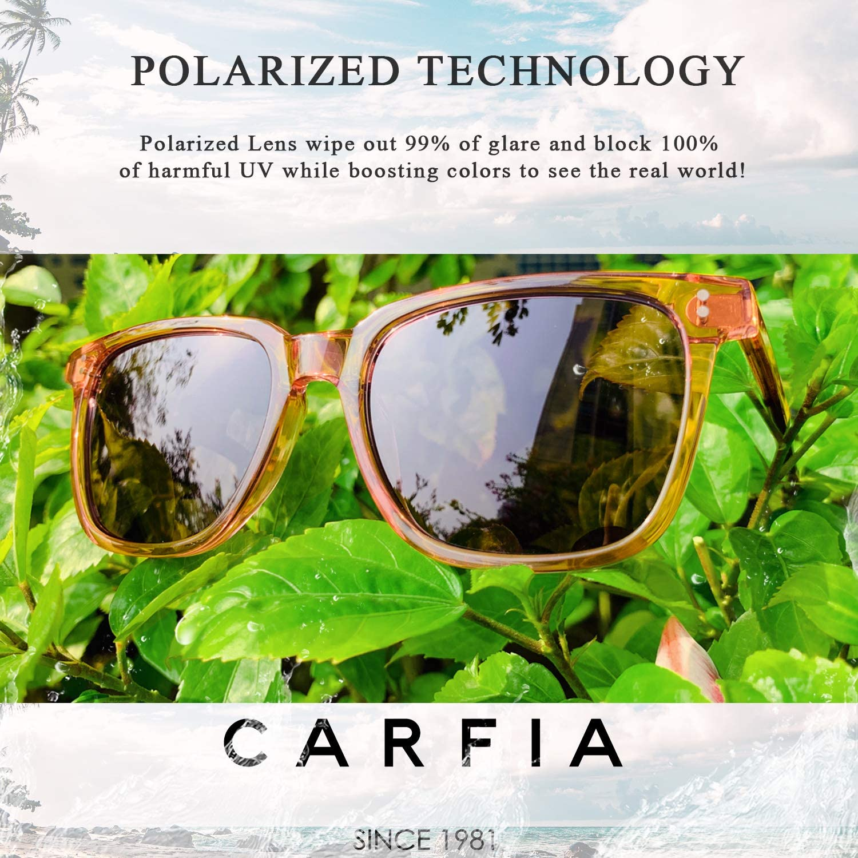 Carfia Chic Retro Polarized Womens Sunglasses UV400 Protection Safety Glasses Outdoors