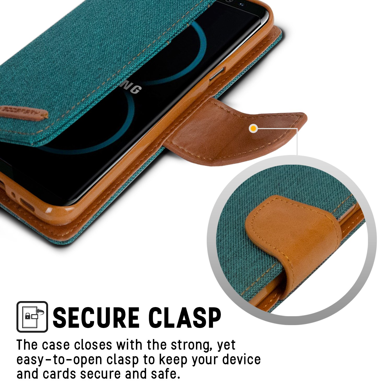 Galaxy S8 Case Drop Protection Goospery Canvas Diary Samsung Plus Fancy Brown Black Denim Material Wallet Id Card Cash Slot Stand Flip Cover Shock Absorbing Tpu