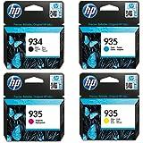 Cartouches d'Encre Pour HP 934 Noir + HP 935 Cyan