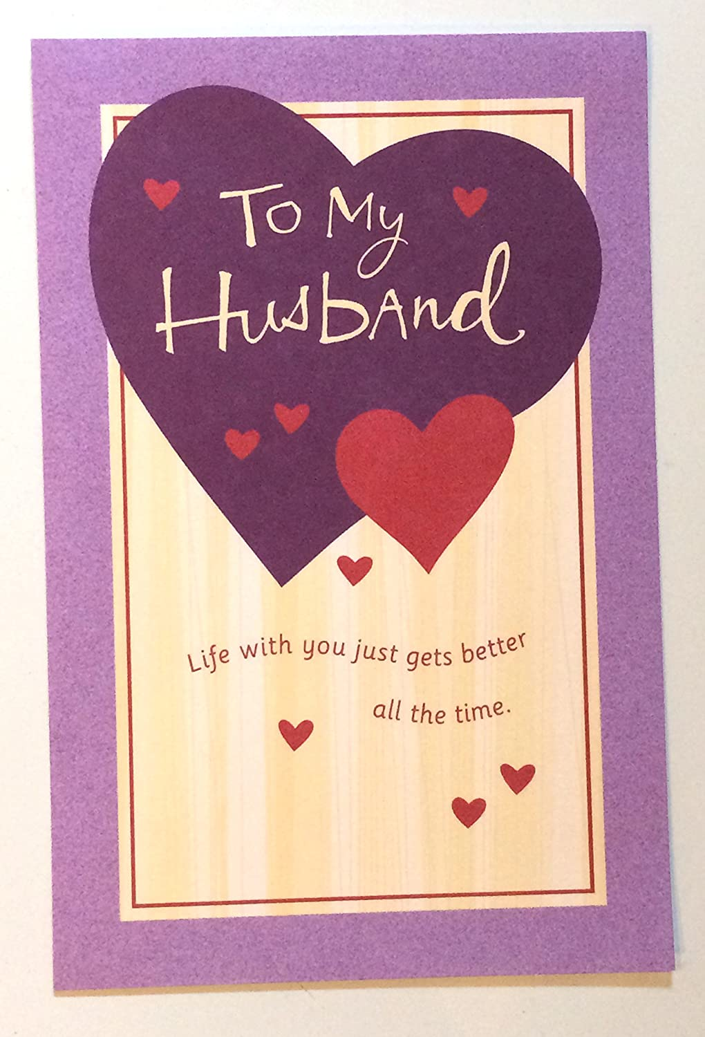 Amazon Valentine Card To Husband To My Husband Life With You