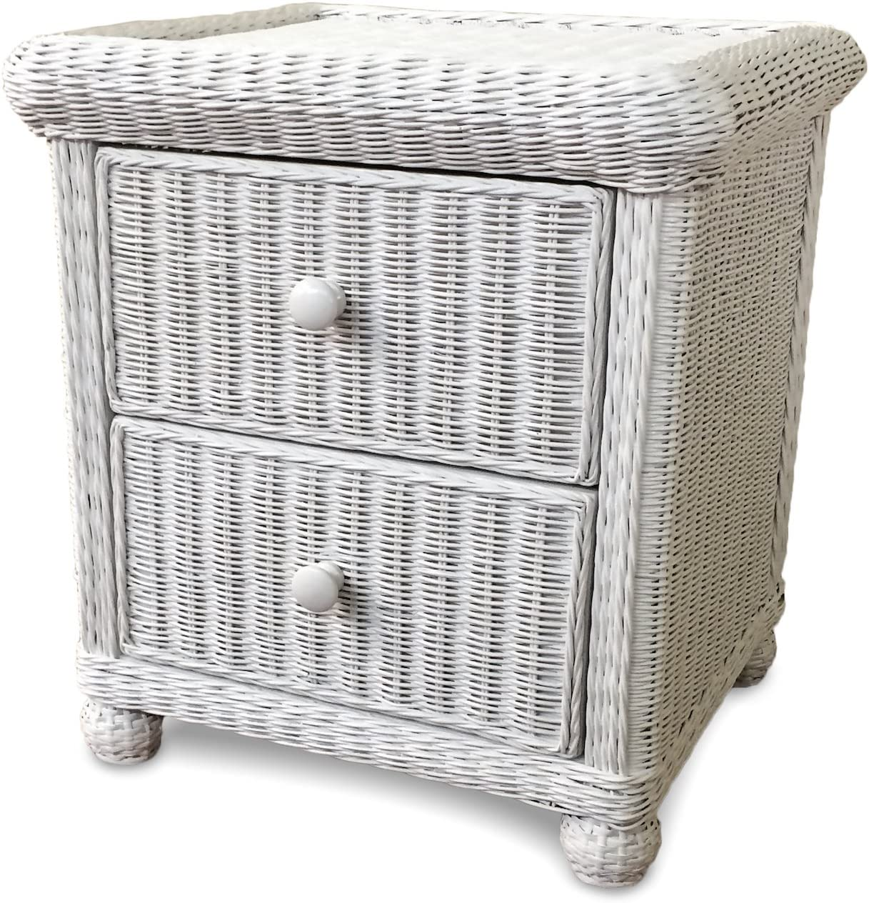 Wicker Paradise Elana Two Drawer Nightstand, Small