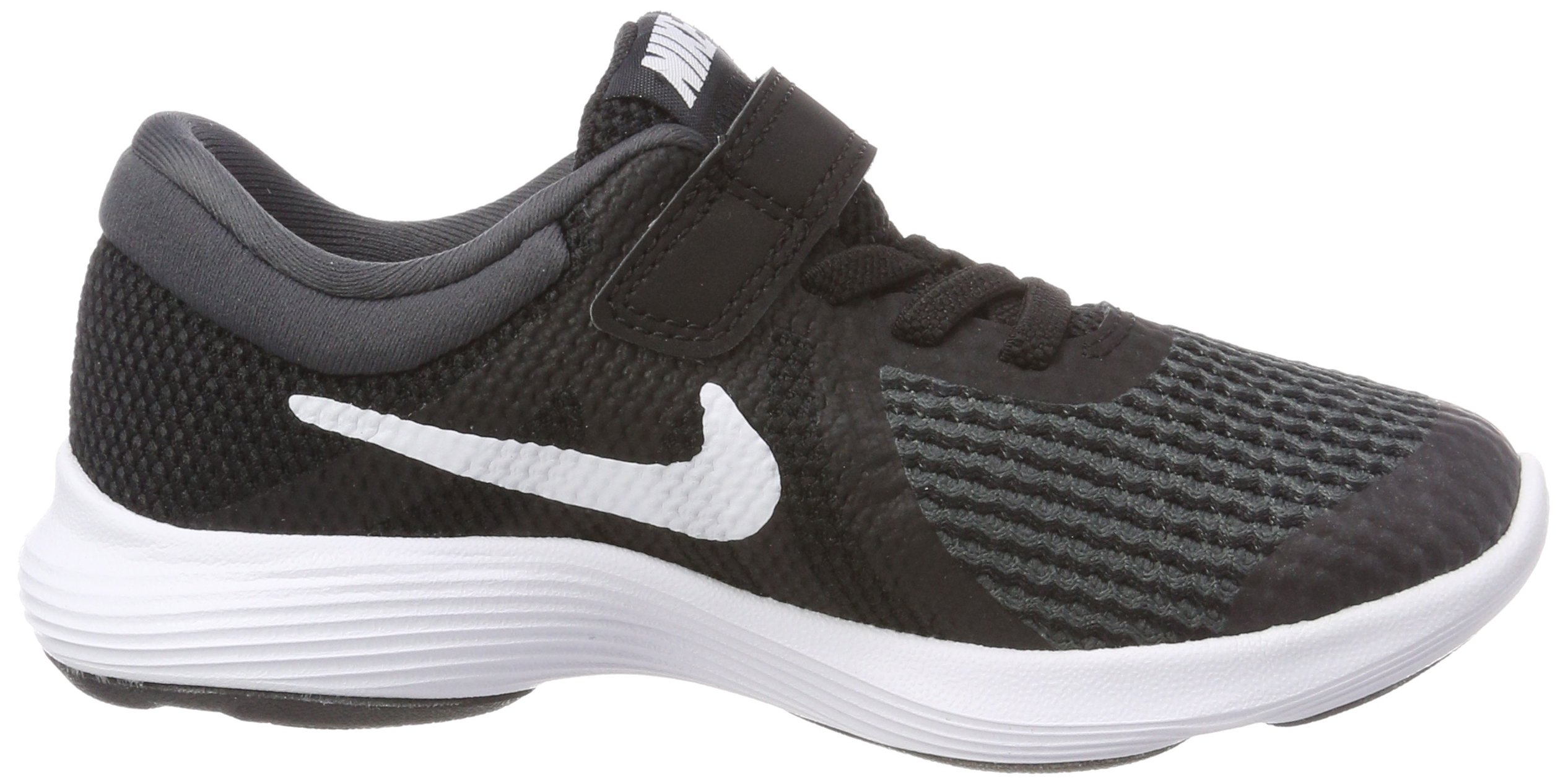 Nike Boys' Revolution 4 (PSV) Running Shoe, Black/White-Anthracite, 10.5C Youth US Little Kid by Nike (Image #6)