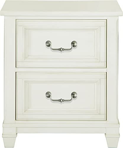 Magnussen Brookefield 2 Drawer Cotton White Nightstand 28 x 24 x 18