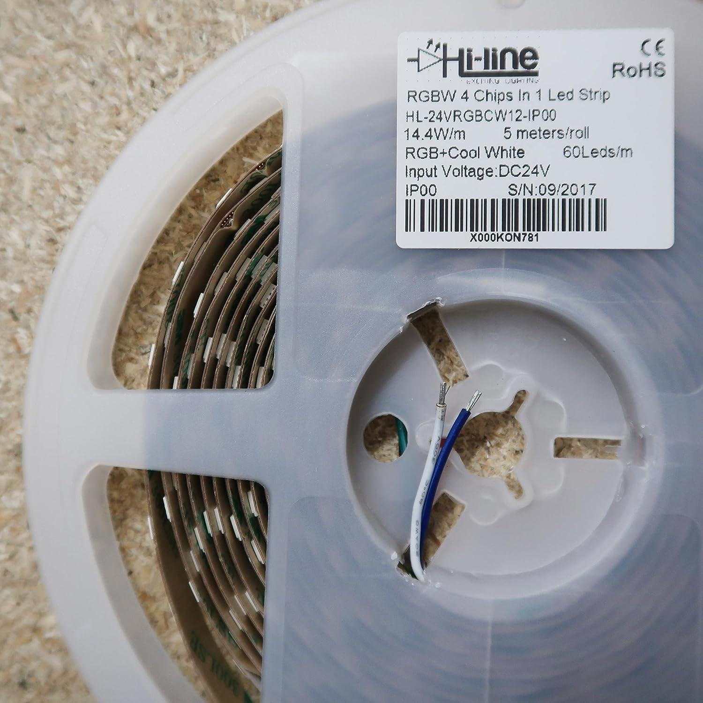 Rgbw Led Strip Rgb Cw 24v 144w M Ip00 Cri80 12mm 2oz Pcb 5m Roll Pj Rims Wiring Diagram Lighting