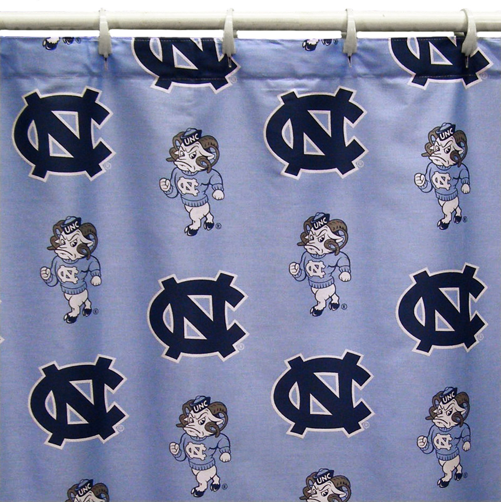 North Carolina Tar Heels Shower Curtain Cover Plus a Matching Window Curtain Valance - Save Big By Bundling! by College Covers