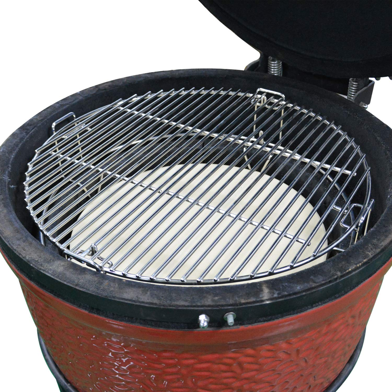 Onlyfire Cooking System Fit for Large Big Green Egg, Kamado Joe Classic,  Pit Boss, Louisiana, Large Grill Dome, and Other Kamado Grill