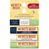 Burt's Bees 100% Natural Moisturizing Lip Balm, Assorted Flavours with Fruit Extracts - 3 Tubes