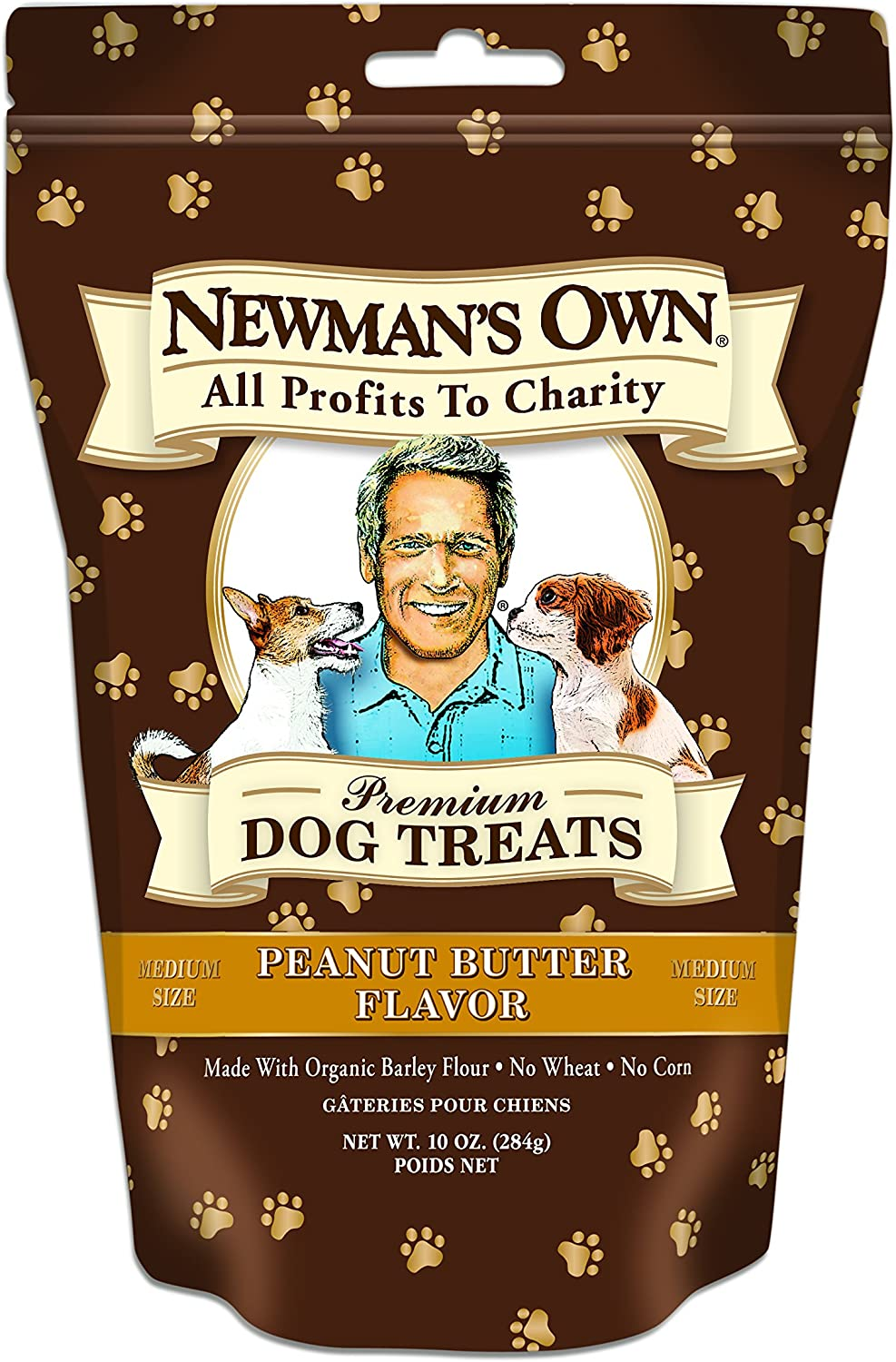 Newman'S Own Dog Biscuits, Peanut Butter Formula - Medium, 10-Oz. (Pack Of 6)