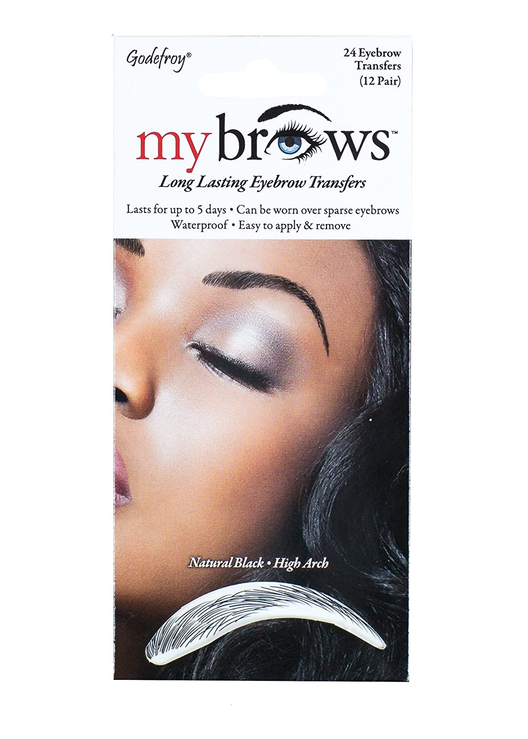 Amazon Godefroy Mybrows High Arch Eyebrow Tattoo Natural Black