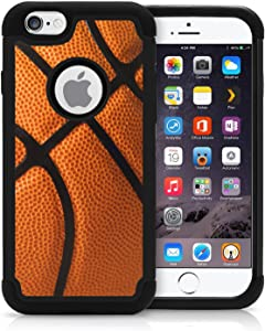 Corpcase - Hybrid Case for iPhone 6 / iPhone 6S - Basketball / Unique Case With Great Protection